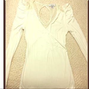 White long sleeve Bebe shirt